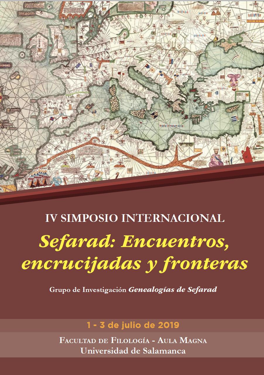 IV SIMPOSIO INTERNACIONAL Sefarad: Encuentros, encrucijadas y fronteras
