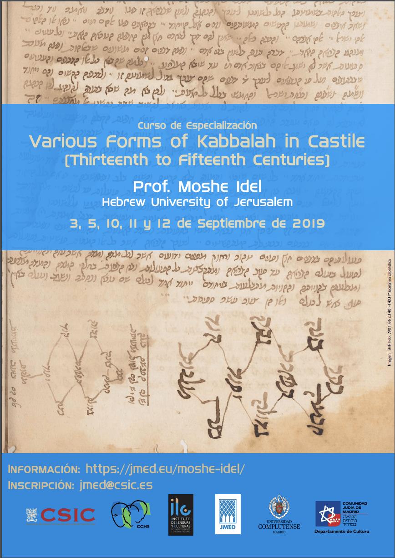 "Curso de especialización ""Various Forms of Kabbalah in Castile (Thirteenth to Fifteenth Centuries)"""